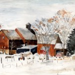 B022 - Berkshire Farm in Winter