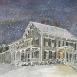 Antique Colonial-Winter Evening