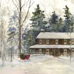 Farmhouse in Woods - Winter