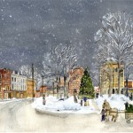 Christmas on Park Square 1912