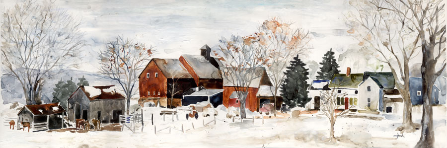 B022-Berkshire Farm-Winter-Pittsfield-MA